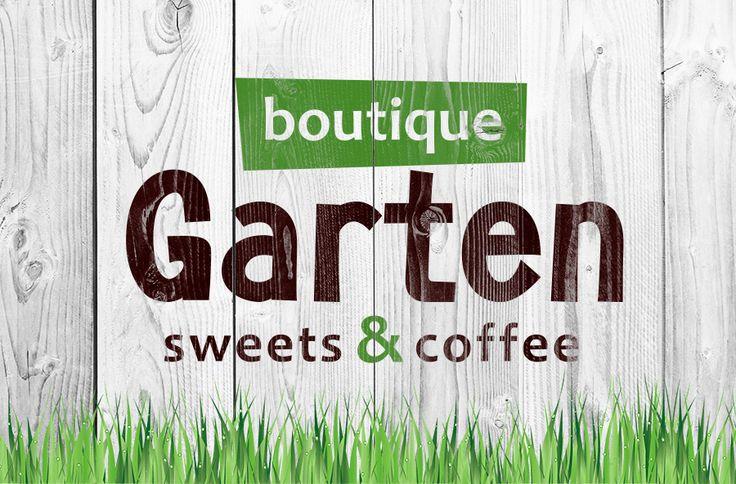 Логотип для бутика-кофейни GARTEN на Оболонской набережной 11 в Киеве.