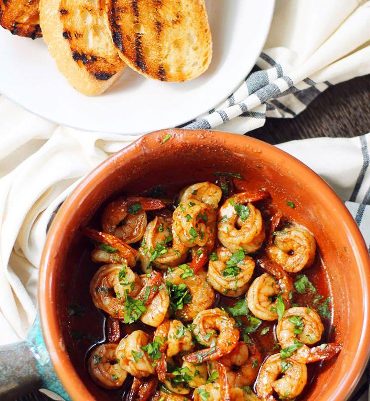Crevettes épicées à l'ail