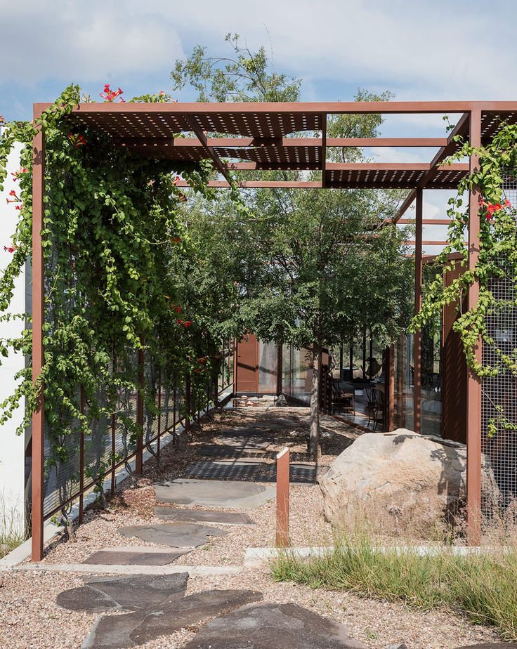 A gridded trellis with sheet-punched panels in Central Mexico