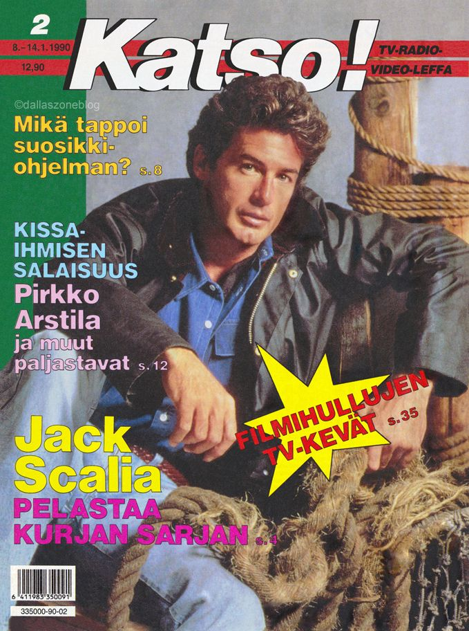 Hotties from Dallas' later years: Jack Scalia as Nicholas Pearce on Katso 1990.