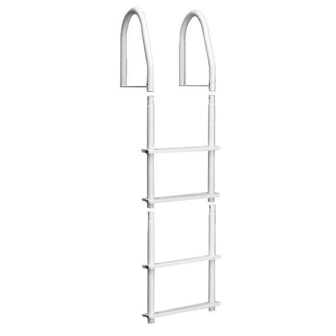 Dock Edge Fixed 4 Step Ladder Bright White Galvalume [2104-F]