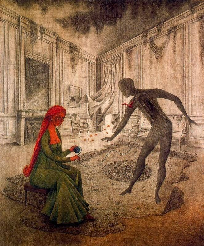 """Remedios Varo,""""Les Feuilles Mortes"""" (1956)"""