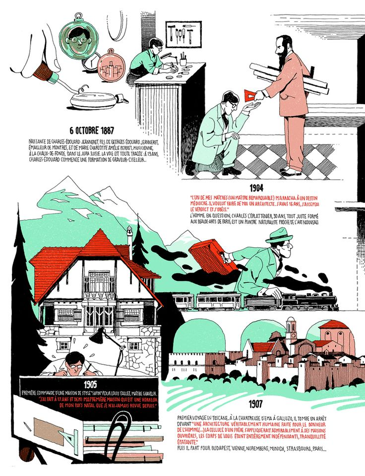 Gallery - Infographic: The Life of Le Corbusier by Vincent Mahé - 2