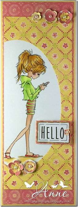 LOTV - Jasmine Phone with Set 100 Teenage Girl Sentiments by Anne Richardson