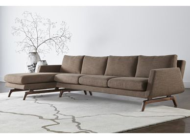 Small Sectional Sofa  in by American Furniture Manufacturing in McPherson KS Cornell Cocoa Sofa