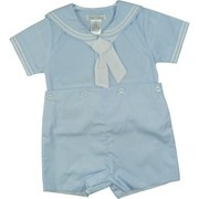 Shortalls maybe for a bringing home outfit for a baby boy.