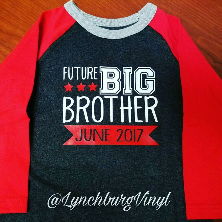 Baby Announcement Shirt for Big Brother - $15 Can do any design or color