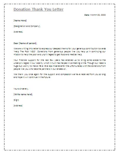 non profit thank you letter sample | hitecauto.us