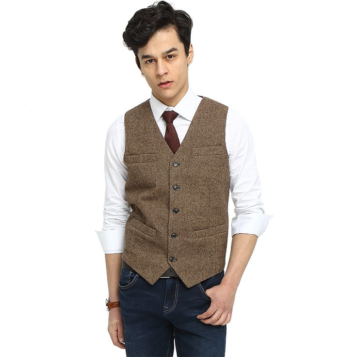 Find More Vests Information about 2017 Airtailors Brown Tweed Vest Men Suit Vest Slim fit Groom's Wear Rustic Wedding Waistcoat,High Quality wedding waistcoat,China vest men suit Suppliers, Cheap mens suit vest from Airtailors Mens Suits Store on Aliexpress.com