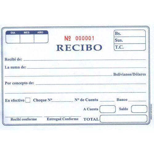 el recibo es un documento que acredita o certifica el pago