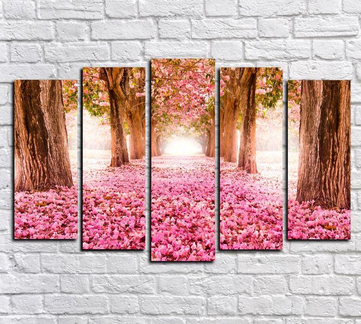 Модульная картина Розовое покрывало Цена 3190 руб. Размер 90х58 см  Состоит из 5 модулей