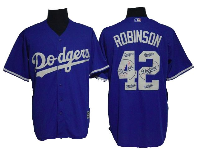 Los Angeles Dodgers Jersey - Jackie Robinson - Blue Team Logo Fashion Jersey