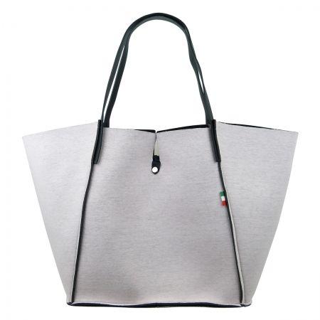 Wearit Bags - NEOPREN WENDETASCHE MIT LEDERRIEMEN N266