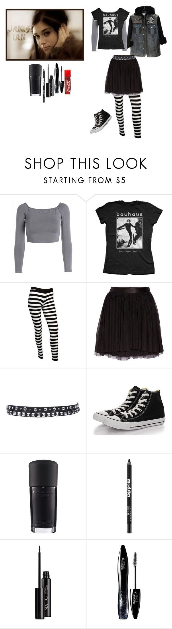 """""""Cosplay series: Janis Ian"""" by miss-morbid-13 ❤ liked on Polyvore featuring Janis, AX Paris, Bela, Forever 21, Morgan, MANGO, Converse, MAC Cosmetics, Ardency Inn and Natio"""