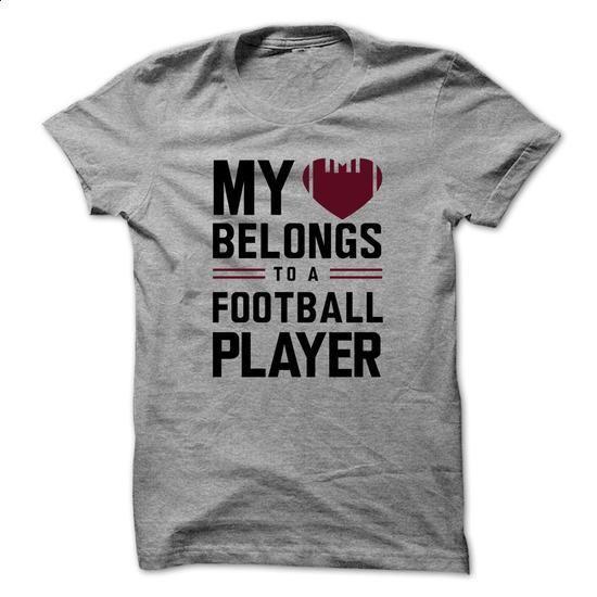 My heart belongs to a football player - #free t shirt #customize hoodies. SIMILAR ITEMS => https://www.sunfrog.com/Sports/My-heart-belongs-to-a-football-player.html?60505