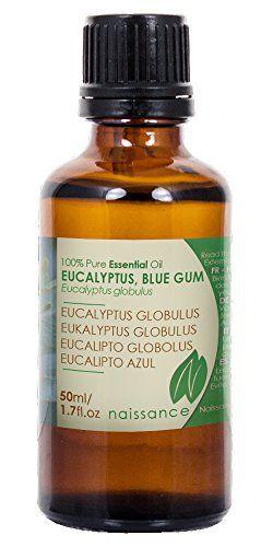 Naissance Huile Essentielle d'Eucalyptus Globulus 100% pure – 50ml: Revigorante et rafraîchissante Aide à soulager les sinus encombrés, la…