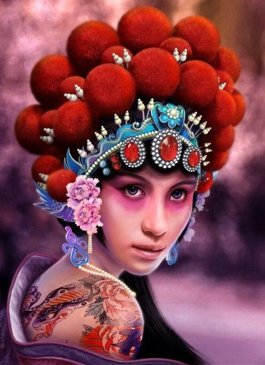Asian head dress