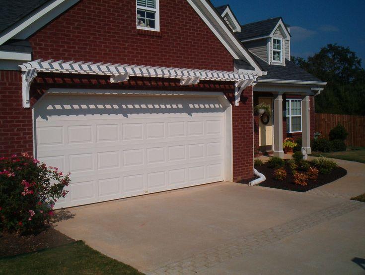 Garage Door Trellis Or Arbor A Frame Garage Front Garage