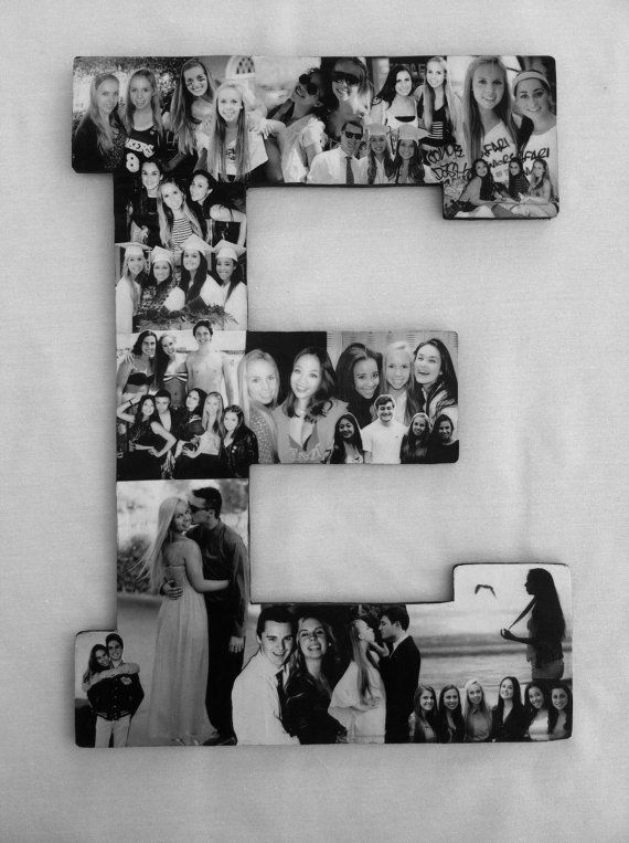 Custom Photo Collage letter - Girlfriend gift - College dorm room dec ...