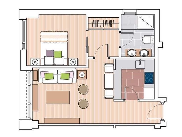 Cómo distribuir el espacio en casa. Ejemplos de planos