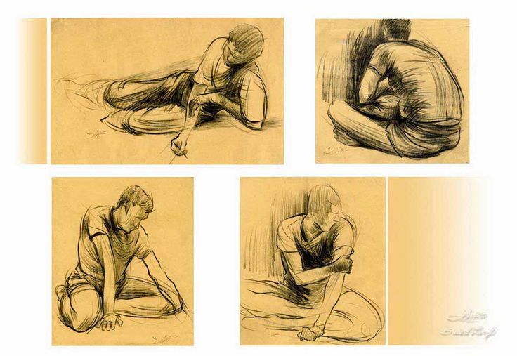 figour drawings- pencil