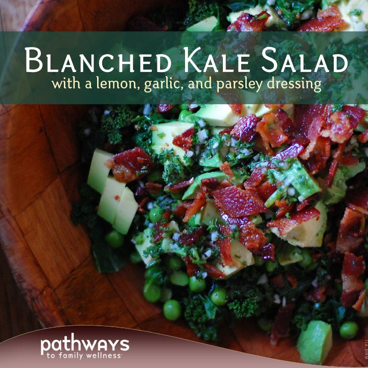 Enjoy this easy kale salad recipe you can have ready in no time. Top with an egg for breakfast, or enjoy as a to-go lunch.