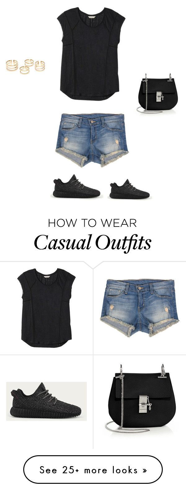 """Casual"" by abigailknorby on Polyvore featuring Rebecca Taylor, Flying Monkey, adidas, Chloé, women's clothing, women, female, woman, misses and juniors"