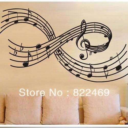 buy music symbols note wall art decal. Black Bedroom Furniture Sets. Home Design Ideas