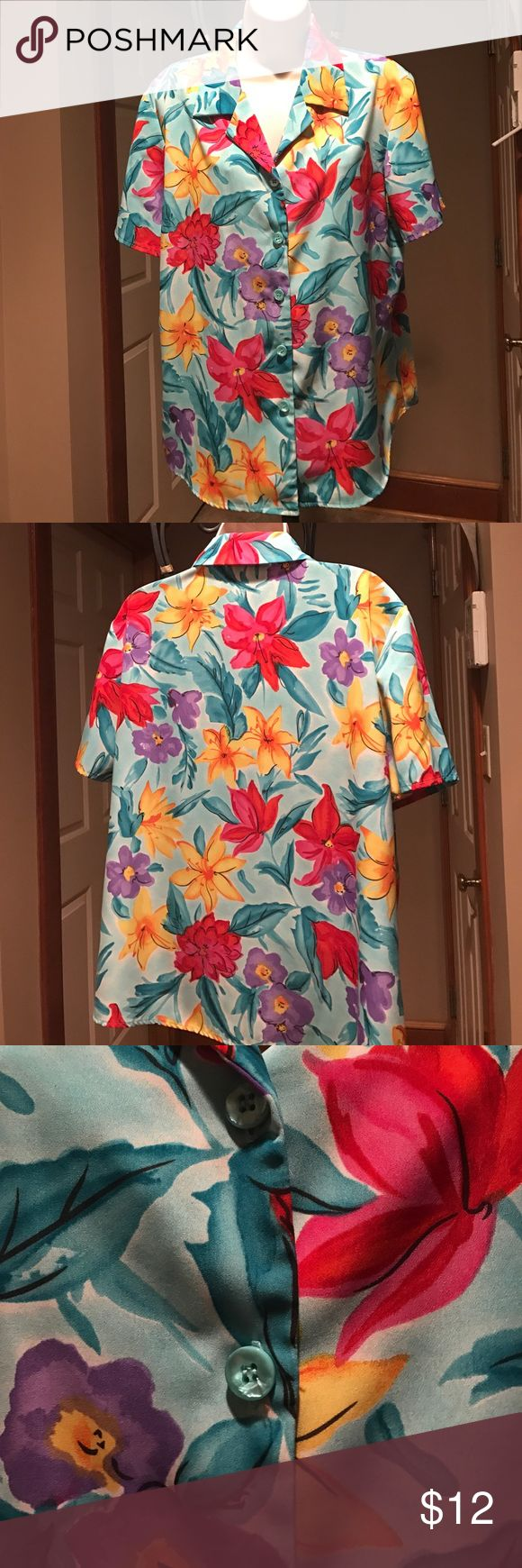 QVC Susan Graver blouse Susan Graver style blouse. 100% polyester. Made in USA. Machine wash. Susan Graver Tops Blouses