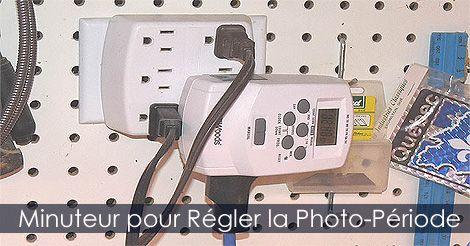 #Minuteur pour lampes horticoles - Réglage de la photo-période. Instructions : http://www.jardinage-quebec.com/guide/semis-interieur/partir-ses-semis-7.html