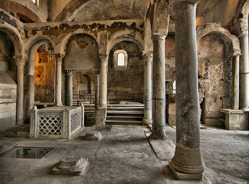 The mysterious and fascinating early Christian basilicas of Cimitile complex dating from the fourth century AD ~ Nola