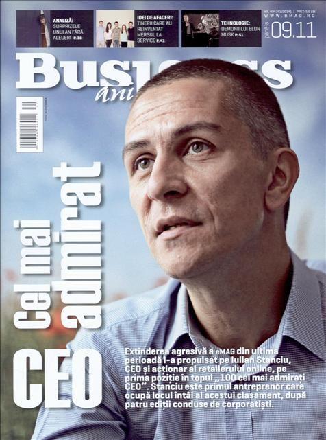 Esti curios cine este omul din spatele eMAG? Afla despre cine este vorba si cum a ajuns sa fie cel mai admirat CEO, in ultimul numar al revistei Business Magazin.  Aboneaza-te gratuit la Titlurile Zilei si fii la curent cu prima pagina a ziarelor si revistelor din Romania acum: http://www.titlurile-zilei.ro/economie-business #business #stiri