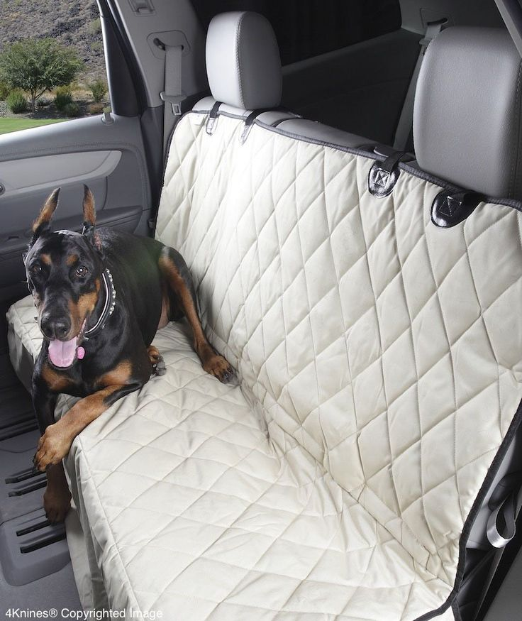 Amazon.com : 4Knines Dog Seat Cover for Cars with the Best Nonslip Backing, Tan Regular : Automotive Pet Seat Covers : Pet Supplies