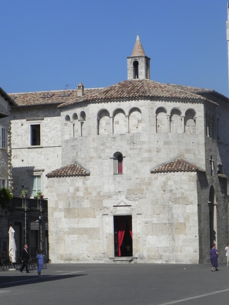 Ascoli Piceno - The Baptistry: walking though Arringo Square, near the Cathedral you will find this amazing historical structure!