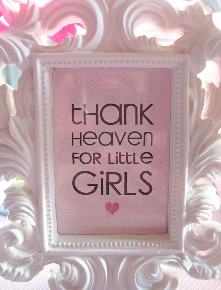 """Thank Heaven for Little Girls"" print to fit in a tiny frame"
