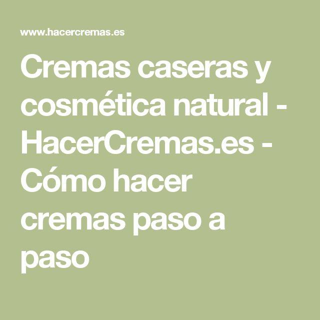 Cremas caseras y cosmética natural - HacerCremas.es - Cómo hacer cremas paso a…