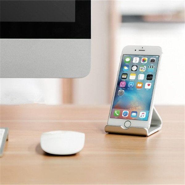 Universal Portable Aluminum Desktop Stand Holder Dock Mount for iPhone 7 Samsung Xiaomi Tablet PC Sale - Banggood.com