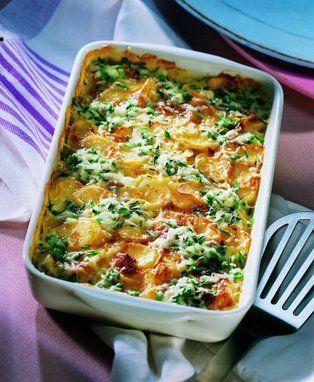 Ein+Kartoffelgratin+mit+Mozzarella,+das+sich+gut+vorbereiten+lässt