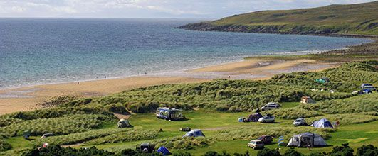 Sands Caravan Site, Gairloch, West Coast Scotland