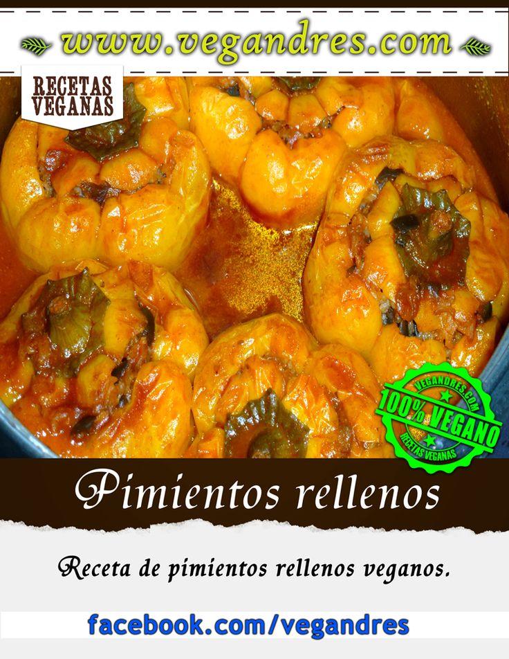 Pimientos rellenos veganos – receta : http://vegandres.com/pimientos-rellenos-veganos-receta/  #vegan #vegano #vegetarian #vegetariano #food #recipe #receta