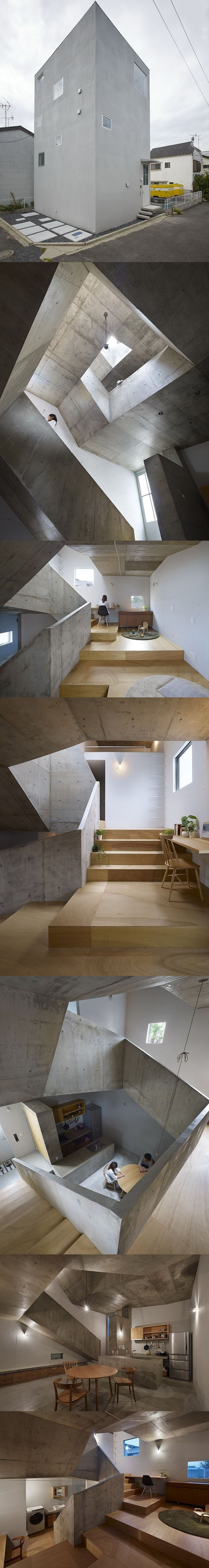 House Around A Stair   House In Nishiochia, Tokyoi // Suppose Design Office