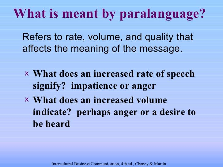 Intercultural Communications: Chapter 06 oral & nonverbal