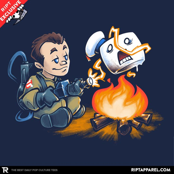 Stay-Burnt, Marshmallow Man T-Shirt - Ghostbusters T-Shirt is $13 today at Ript!