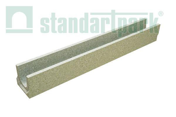 Лоток водоотводный бетонный BetoMax Basic DN100 H130