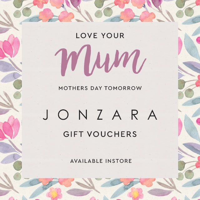 Tomorrow is Mother's Day and if you can't decide on what to buy her, why not let her decide with a gift voucher from Jonzara?  Your Mum can choose from our collection of ladies wear and accessories by designers including Betty Barclay, Monari, Olsen, Taifun, Sandwich Clothing MASAi and Betty & Co.  We will be open to 5.30pm this evening #Jonzara #MothersDay #GiftVoucher http://www.jonzara.co.uk/