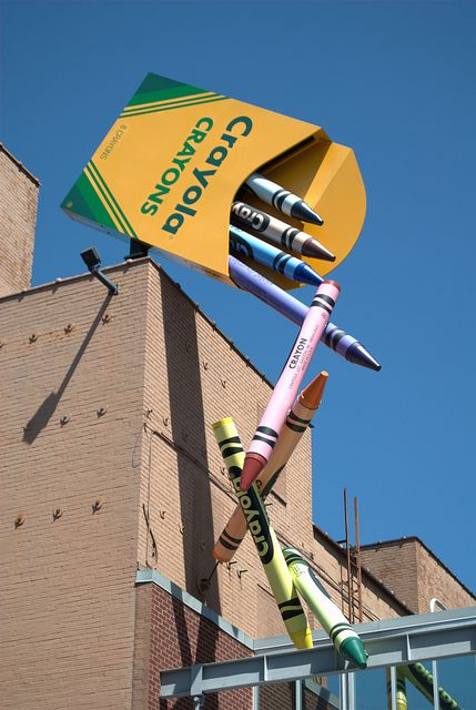 Crayola Crayons in Easton, PA-Lehigh Valley...love it, so eye-catching & whimsical