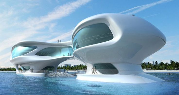 Marine Research Center Building One of 6 total Photographs Futuristic ...