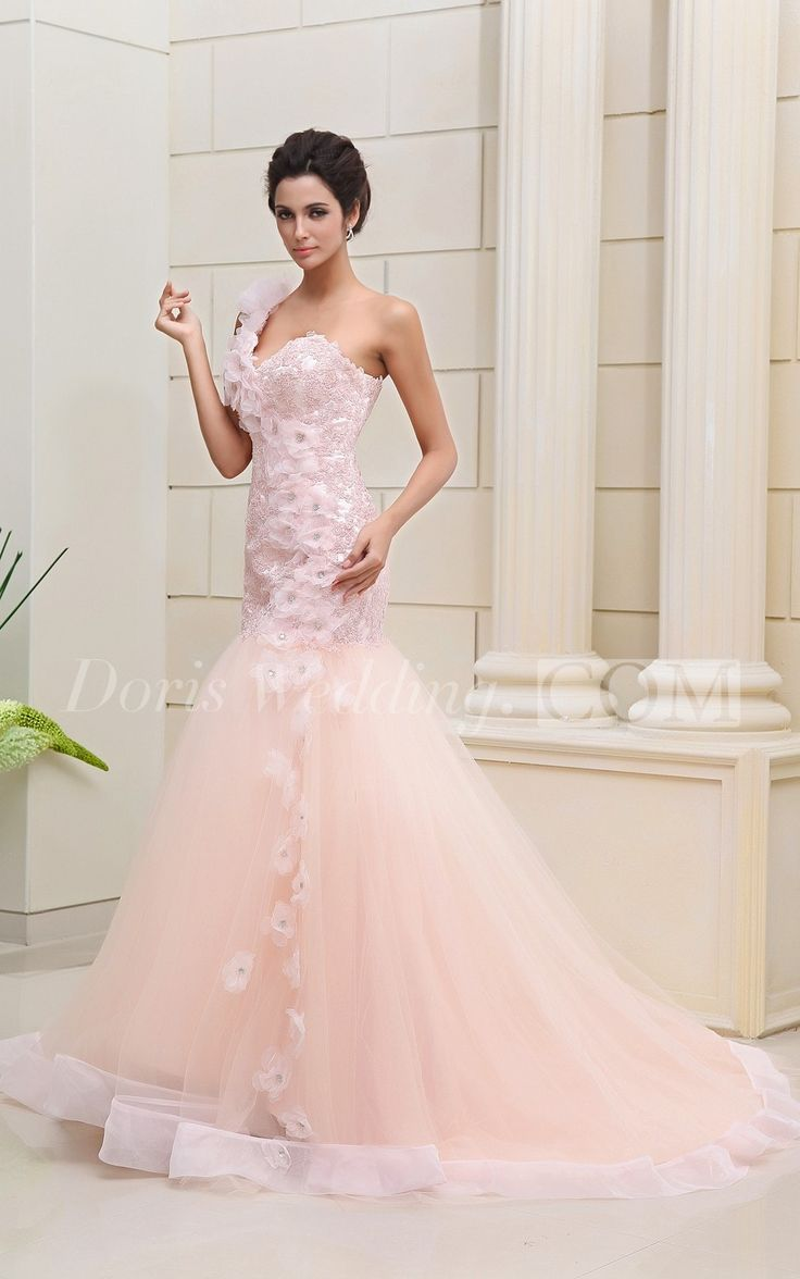 Mermaid Style Wedding Dresses With Color : Wedding dresses mermaid style color