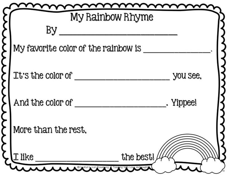 183 best Rainbow Preschool images on Pinterest DIY, Colors and - rainbow template