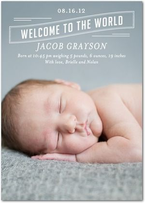 Adorable new birth announcements from @TinyPrints @BabyCenter #birthannouncements #babygear